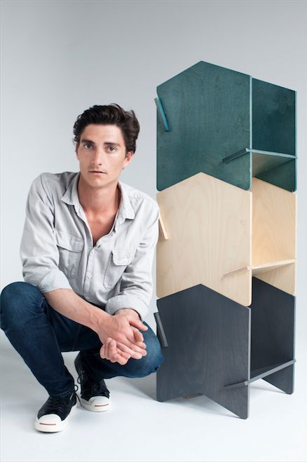 Flat pack shelves by Henry Wilson for under $200. Seriously!
