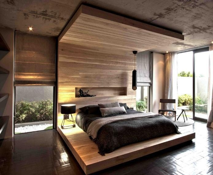 House Aupiais by Greg Wright Architects-Bedrooms finished in varying neutral tones having natural timber as a consistent accent: