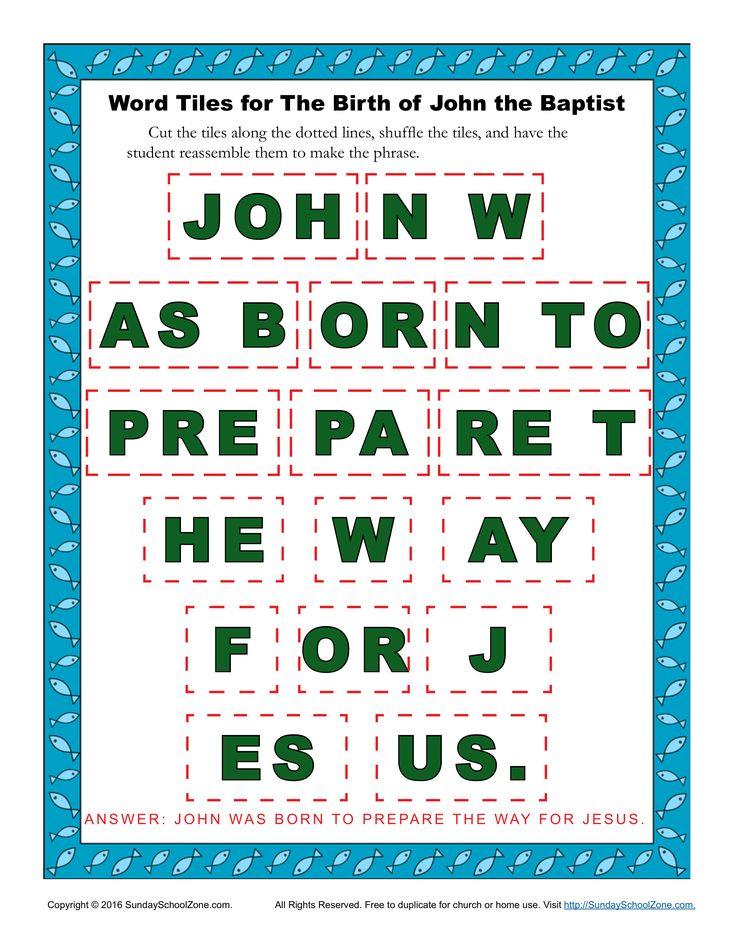 25 best ideas about john the baptist on pinterest for John the baptist craft for kids