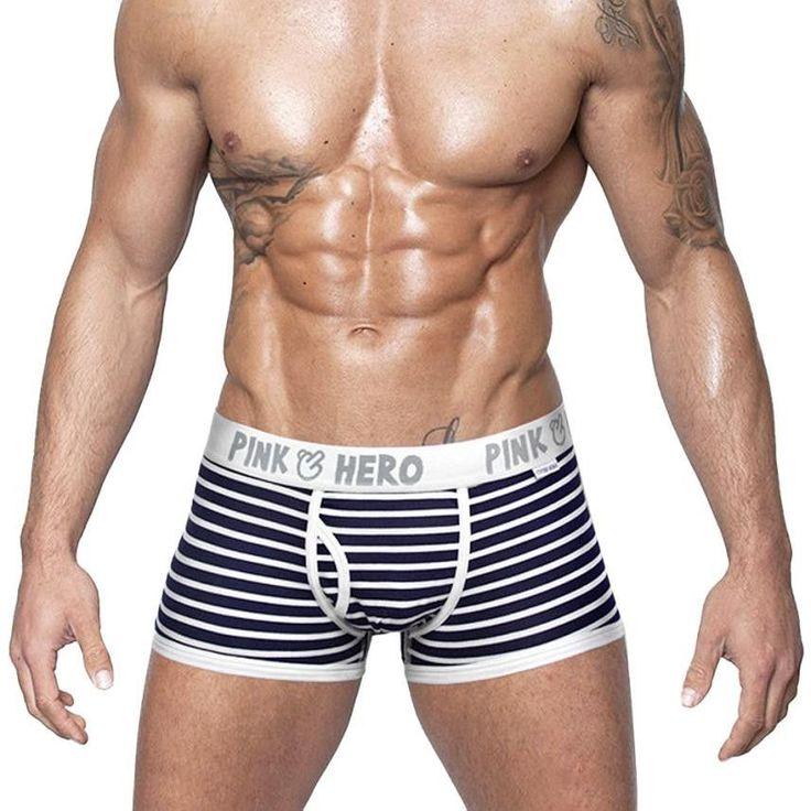 Comfortable Panties Hot Sale Men Male Underwear Men's Boxer Underwear Sexy Striped Cotton Man Underwear Boxer Fringe Underpants