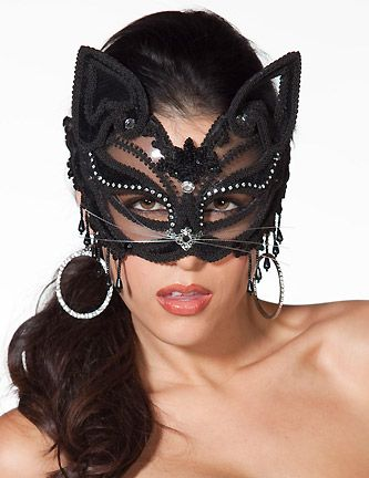 Venetian Style Cat Mask  sc 1 st  Pinterest & 111 best Cat Masks (Adults) images on Pinterest | Cat mask Venetian ...