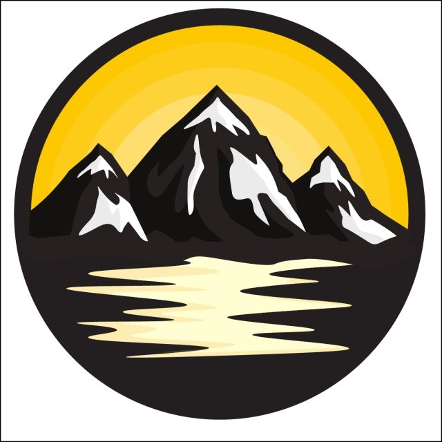 Mountains Circle Nature Landscape Mountain Png And Vector With