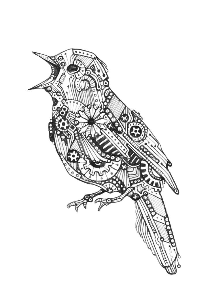 mechanical bird 3  kimberlouise deviantart com