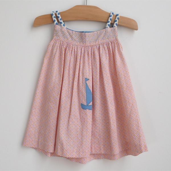Baby Dress: sailboat baby dress circa 1950