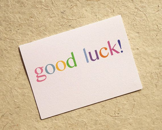 Good luck card, simple good luck, cute good luck notecard pack, set of thinking of you cards, pastel good luck card, good luck notecard