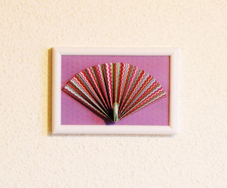 Cadre déco en Origami Pavo Cristatus : Décorations murales par petitspapierscelestes