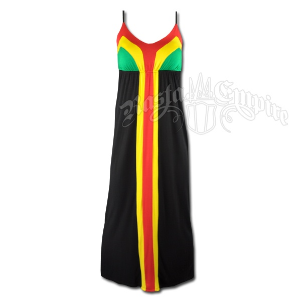 Rasta and Reggae Long Dress With Stripes #rasta #reggae