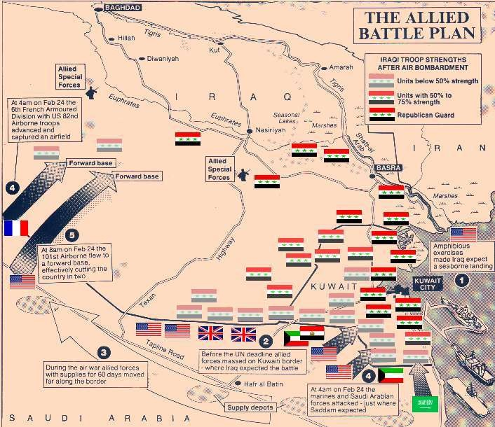 Best Gulf War Images On Pinterest Military History Iraq War - Map of the middle east us war plan