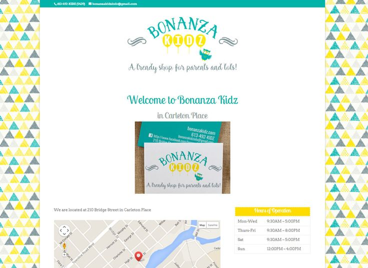 Web Page Design for Boutique Children's Clothing and Toy Shop in Carleton Place, Ontario | #wordpress #websitedesign