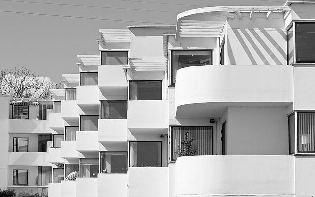 Arne Jacobsen - Bellevue Strandbad, Klampenborg by cphark, via Flickr