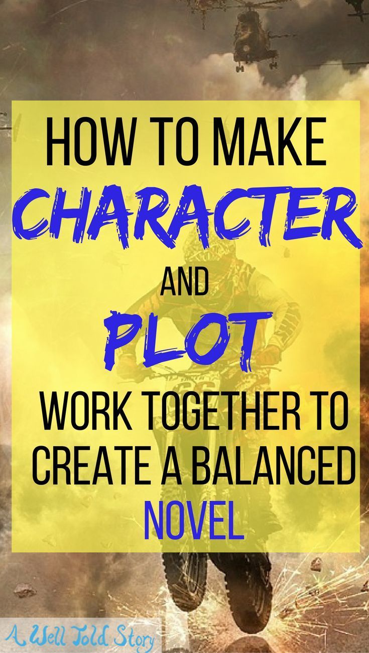 Some of the best stories do an excellent job balancing character and plot. Here's one way to plot with your character in mind and create a balanced story.