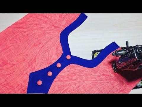 कुर्ती के लिए बहुत ही सुंदर नेक डिज़ाइन Neck Design for Kameez/Kurti/Suit Cutting and Stitching - YouTube