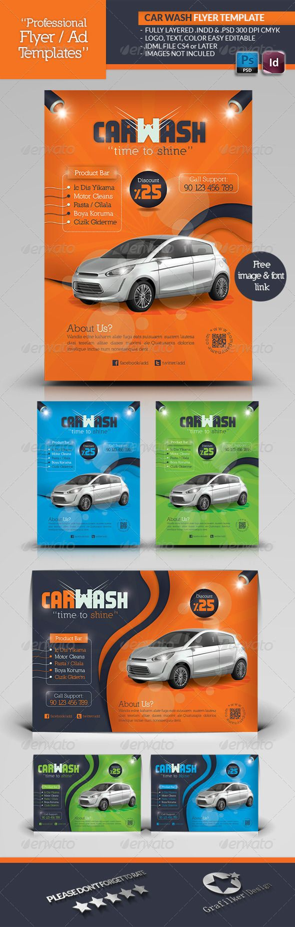 Car Wash Flyer Template Cars Fonts And Colors