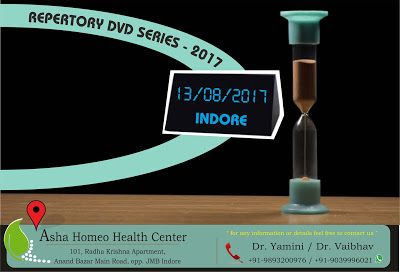 Asha Homeo Health Center: REPERTORY AND BEYOND STARTING IN INDORE