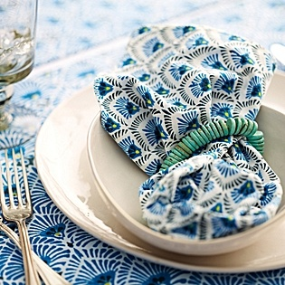 Serena & Lily Corsica Place Mats - Mabley Handler Beach House Dining Room at the 2012 Hampton Designer Showhouse