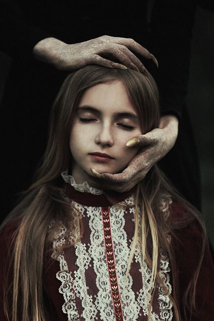 """15 Sublime Photos That Capture Life's Most Fragile Moments #refinery29 http://www.refinery29.com/alex-stoddard-photography#slide-10 Tiny Fluttering Wings""""This is a piece of a greater story that depicts the well-known tale of an ancient witch capturing a young girl walking through the forest,"""" he says. """"She intends to steal away the girl's soul so that she can regain her own youth."""""""