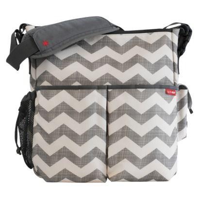 Skip Hop Chevron Duo Convertible Diaper and Stroller Bag