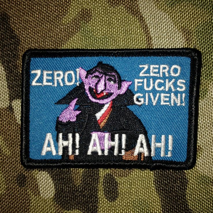 The Count Morale Patch | Tactical Outfitters