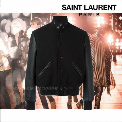 ●2017 Saint Laurent teddyアメリカンスターボンバージャケット サンローラン 2016-2017 ファッション