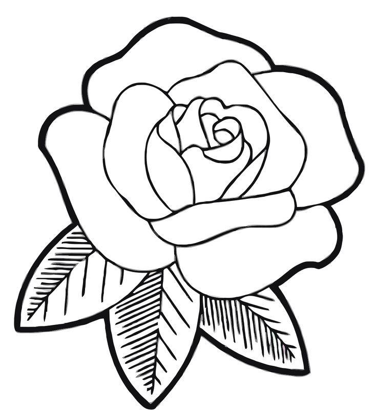 Раскраски цветок для детей