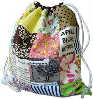 """several tutorials for easy drawstring bags - nice to """"wrap"""" gifts in"""