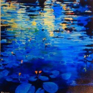 John Gibson - Artist lillies 12  Mixed Media