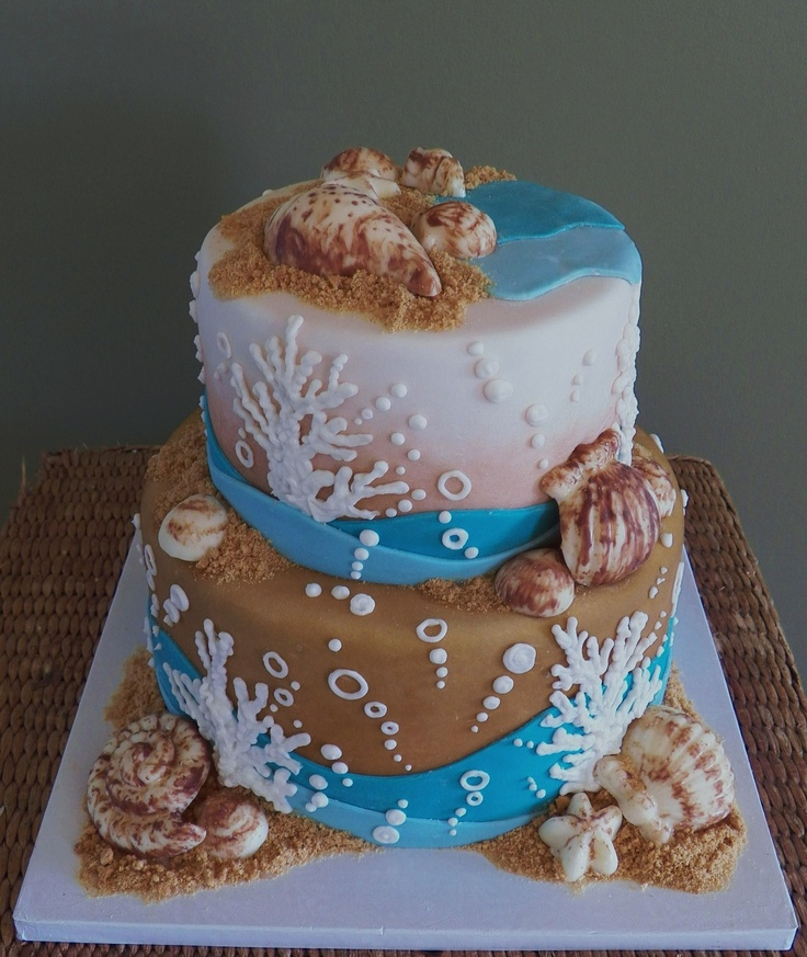 Beach Cake Sarah Myers All Things Beachy Seashell Cake