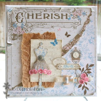 Stunning art canvas with Beau Chateau Designer Series Paper (retired Stampin' Up!): Haberdashery Cards, Cards Manequies, Sewing Fashion Cards, Arty Stuff, Crafty Cards, Stampinup Cards, Paper Crafts, Chic Cards