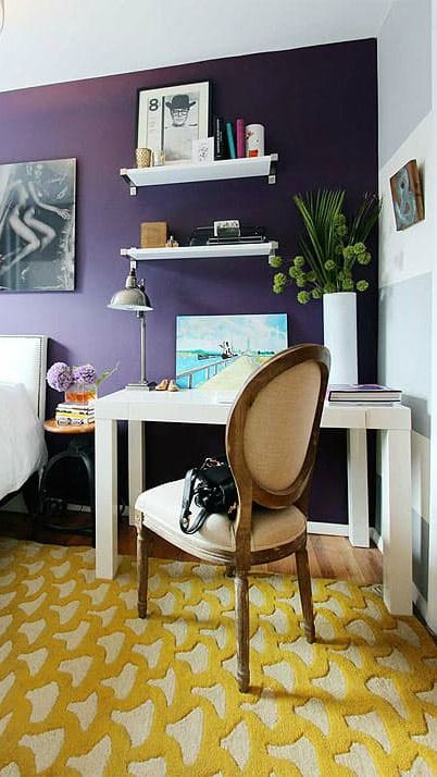 Blogger Liana, of Apartment Therapy, takes you on a tour of Mark's charming West Village home.  Bold, brightly colored walls make this small apartment come alive. Use an eclectic color palette to give your home a modern look. Tie the whole design scheme together with neutral, bright white furniture to keep the vibrant colors from becoming overwhelming.