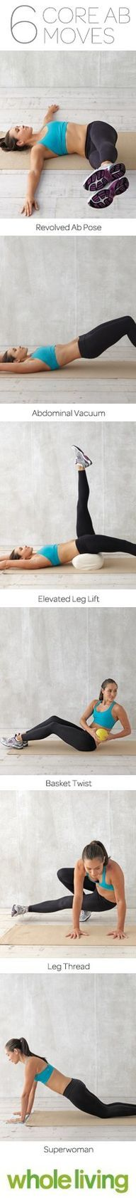 6 Core Ab Moves For a flat belly