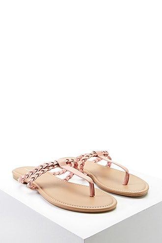 2fc390387 Braided Faux Leather Sandals