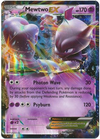 Mewtwo EX 61/162 Pokemon TCG: XY BREAKthrough, Holo Pokemon Card #pokemon #pokemontcg #pokemoncards