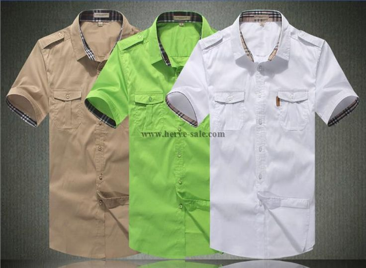 Burberry Men M-3XL Shirt 2014-2015 BTS279(3 colors)