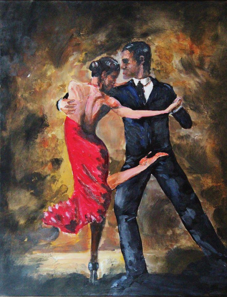 Street Tango- original Acrylic painting