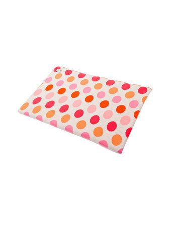 Another stunning creation from the fabulous design team at UIMI. Made in Melbourne this cot blanket measures 135cm x 100cm and has the dotty print on both sides. Made from the softest Organic Egyptian Cotton, your baby will love snuggling up to this blanket. A truely precious baby gift! Perfect in either a cot or bassinet. #nursery #uimi #bedding #blankets