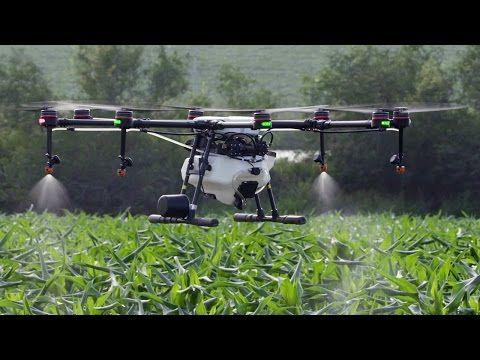 โดรนพ่นยาเพื่อการเกษตร DJI MG-1 : Bug Away Thailand - YouTube