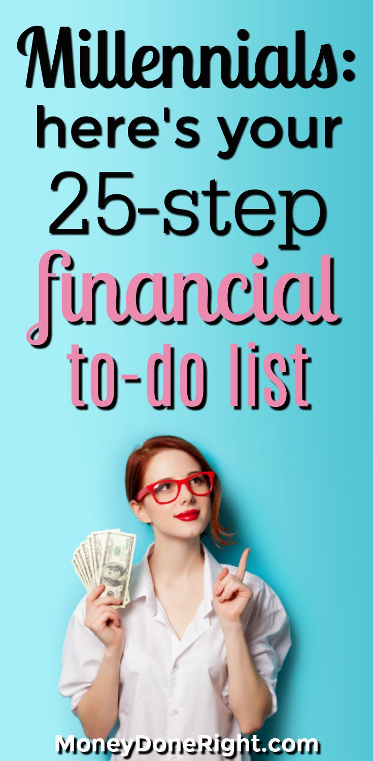 In this article I give Millennials a detailed, step-by-step personal financial plan so they can take control of their financial lives. You will learn about student loans, banking, investing, credit, stocks, saving, business, budgeting, insurance, side hustles, 401ks, IRAs, index funds, taxes, and more!