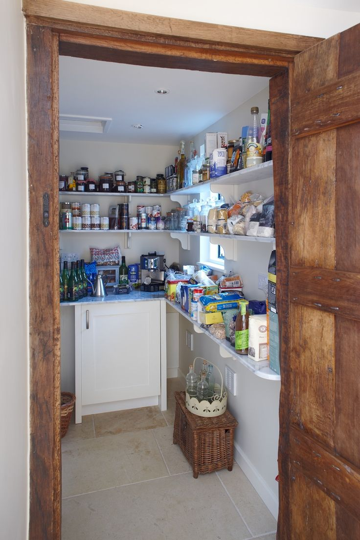 Walk In Larder With Marble Shelving Kitchen Designed By