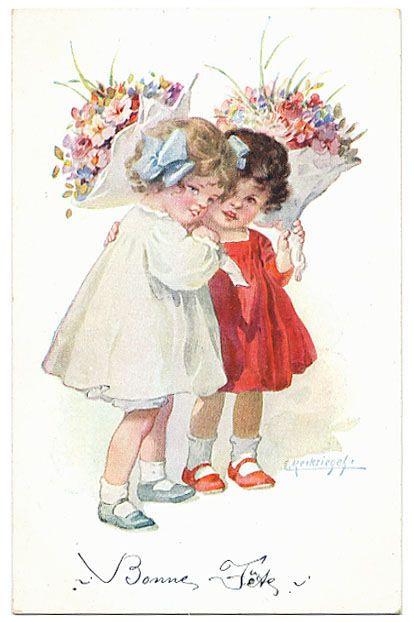 открытка моей любимой подружке винтажные комнату