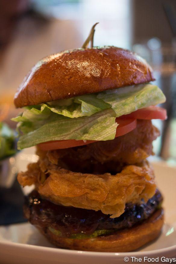 The Charles Bar - Bbq Onion burger