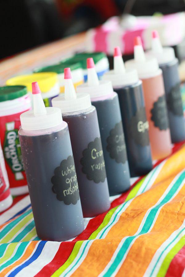 Homemade sno cone syrups dye free