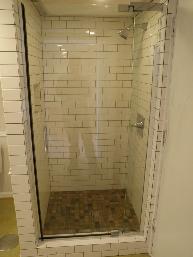 Chic Corner Shower Stalls For Small Space Bathroom Nice Corner Shower Stalls With Glass Door And Subway Tile For Decorate Bathroom Ideas