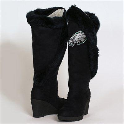 Cuce Shoes Philadelphia Eagles Women's Cheerleader Boots - Black