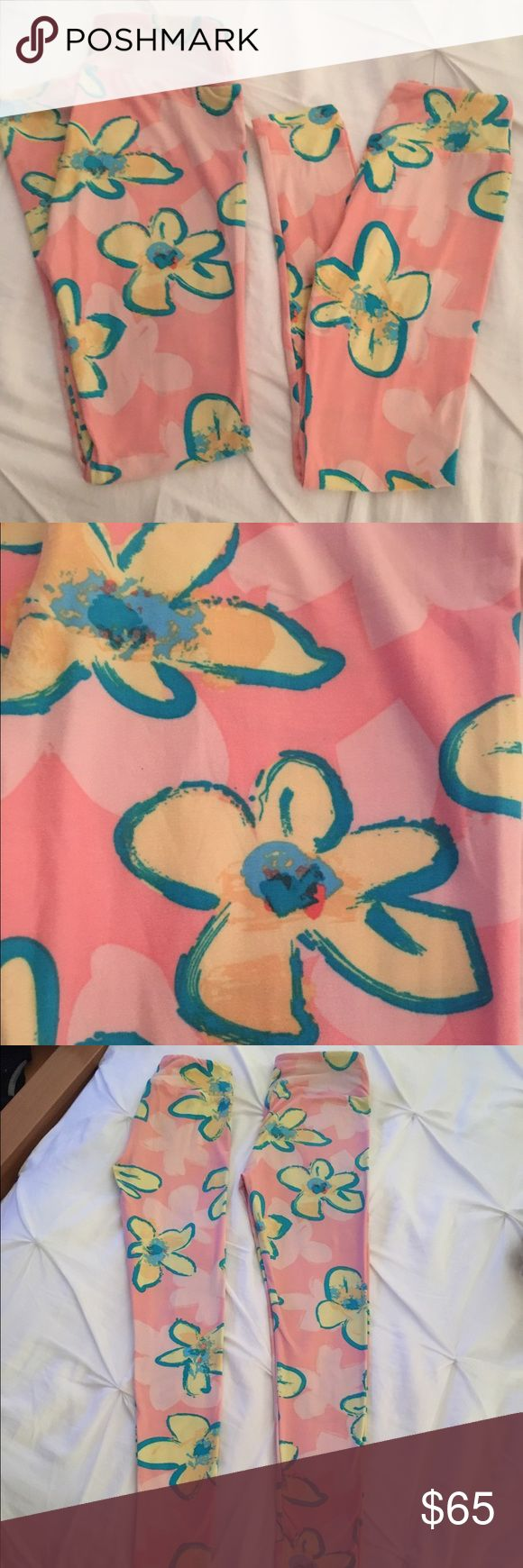 LuLaRoe Mommy & Me Leggings--OS & Tween Set LuLaRoe Mommy & Me Legging Set Comes with both pairs Sizes: OS & Tween Pink Floral Pattern Perfect for Easter or Mother's Day!!!  Only worn once!!! Great Condition!  No pilling, no holes, no stains, no signs of wearing.   No Trades Smoke Free & Pet Free Home LuLaRoe Pants Leggings