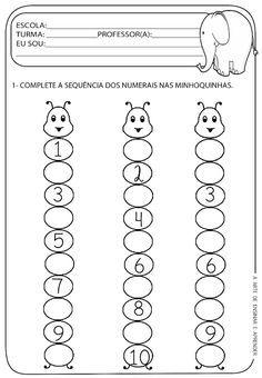 A Arte de Ensinar e Aprender: Atividades numerais 1 a 10                                                                                                                                                                                 Mais