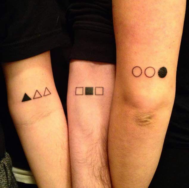 21 tatuagens fofas para fazer entre irmãos - Imagen 3