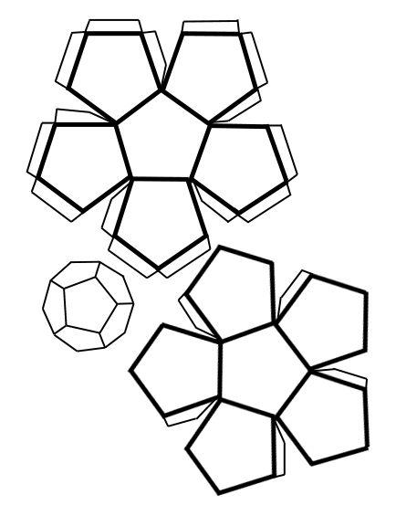 Redes de cuerpos geometricos red cubo paralelepipedos cono etc