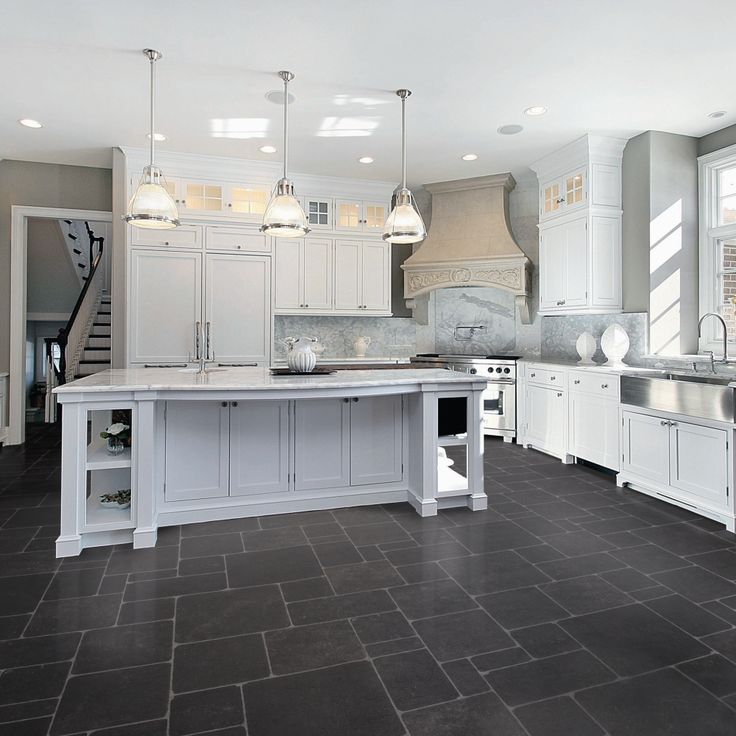 White Cabinets Kitchen Tile Floor vinyl flooring ideas for kitchen - google search | remodel