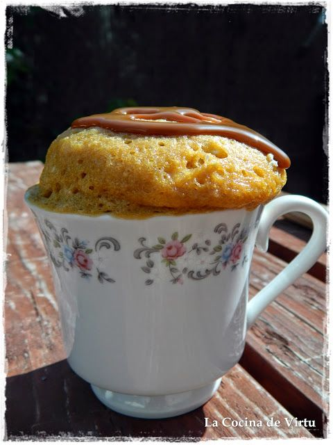La cocina de Virtu: Mug Cake dulce de leche al microondas