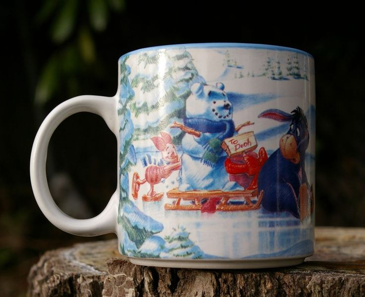 Winnie the Pooh's Winter Wonderland 1996 Walt Disney Coffee Mug Cup Ice Skating    eBay